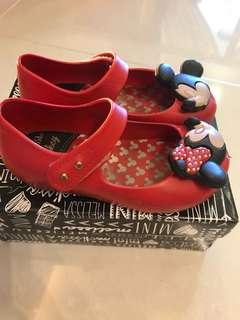 Mini Melissa Disney Minnie Mickey Mouse Red