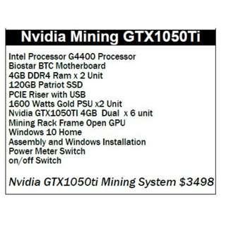 Nvidia Mining GTX1050Ti Bitcoin ethereum full mining machine ready to use