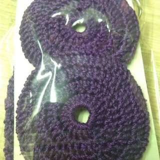 Crochet Headset Cover w/ Keyring Pouch - Violet