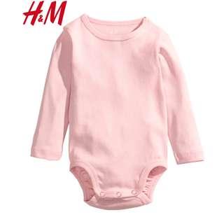 Authentic H&M Light Pink Bodysuit Romper Soft Cloth