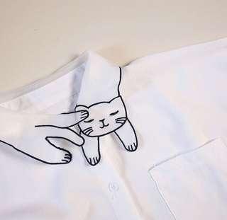 Cat collared top