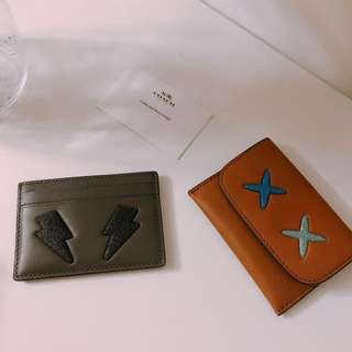 New Authentic Coach card holders