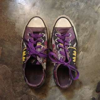 Black and Purple Converse All Star Ox Catwoman DC