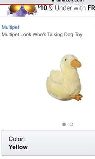 BNIP Multiplet look who's talking plush duck 5 inch dog toy animal sound dog toy yellow duck