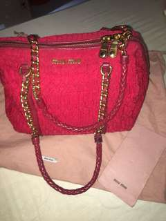 Authentic Miu Miu Used w receipt and Dustbag
