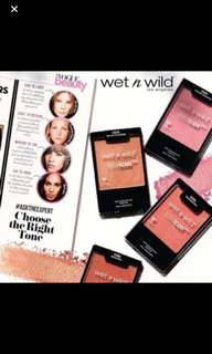 Wet n wild Colour icon Blush in Apri-cot in the middle