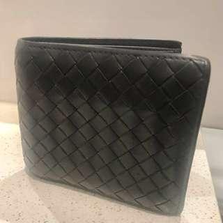 Authentic Bottega Veneta Grey Intrecciato Bi Fold Wallet RRP$560