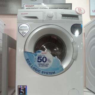 Cicilan mesin cuci SHARP tanpa kartu kredit proses cepat 3 menit lg promo 0%