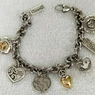 Like New Authentic Brighton Charm Bracelet