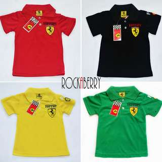 Ferrari Polo Shirt F1 for kids Boys Girls Cars Theme Party