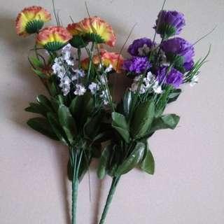 Take all plastic flowers