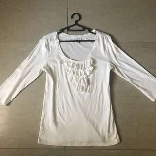 Loft l to xl white longsleeves imported