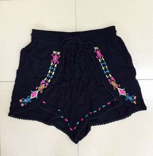 H&M Embroidery Shorts