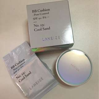 Laneige BB Cushion Pore Control in 23C Cool Sand