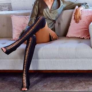 Billini Bardot Black Suede Boots