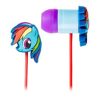 My little pony Rainbow Dash earbuds