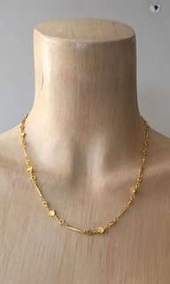 18k gold plated flower chain necklace
