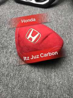 Honda Red alcantara Airbag wrap