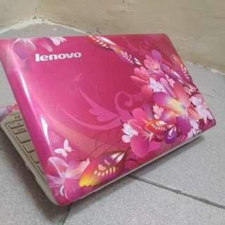 notebook lenovo s10-3s motif bunga type baru