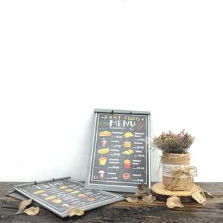 PAINTED WOOD MENUBOARD (FIT A4 SIZE)