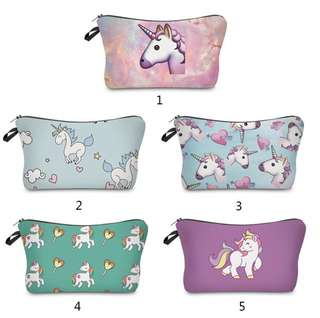 Storage Travel Pencil Case Cosmetic Make Up Bag Unicorn.