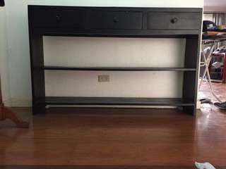 Re price! Brown and black wooden shelves!