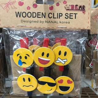 Wooden Clips Set (6pcs)