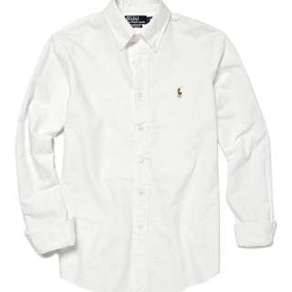 White Ralph Lauren Oxford Shirt
