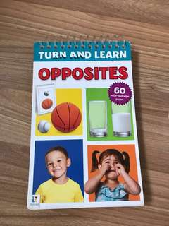 Children's book- Turn and Learn Opposites