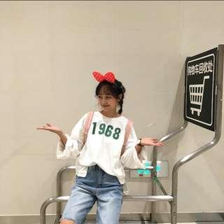 韓系字母上衣