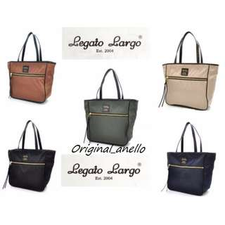 MOVING OUT SALES ! Model :  LH-H 0953 Authentic Legato Largo Large Nylon Shoulder Bag with Sling