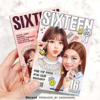 春季櫻花版🌸開售啦‼️ 16 brand迷你雜誌炫彩雙色眼影盤