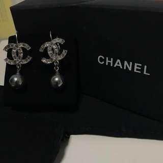 全新真品Chanel吊款耳環