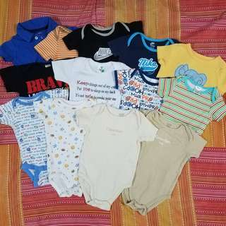 Baby Boy Assorted Onesie's and Shirt 3-6 Months