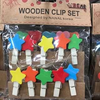Wooden Clips Set