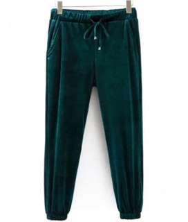 (New+Tags) Zaful Velvet Jogger Pants