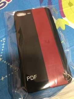 全新iPhone 7/8 Plus黑紅色手機殼 (連掛繩)