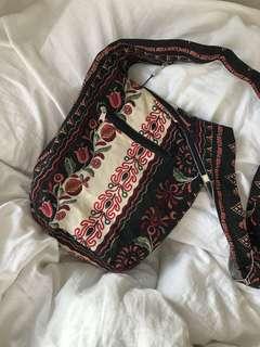 Unique floral patterned shoulder bag