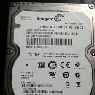 SEAGATE LAPTOP HDD 500GB