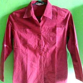 Kemeja Merah polos