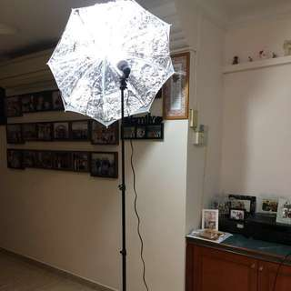 Photobooth studio lights lightings DIY (x2)