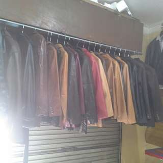 Jaket kulit branded import