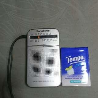 Panasonic 收音機(連耳筒)