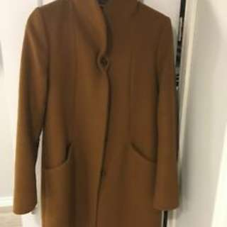 Aritzia Camel Cocoon Coat XS