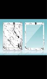 Ipad5/iPad pro9.7 大理石螢幕保護貼(白,包郵