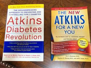 Adkins diet - 2 books $12 for both