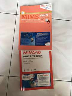 MIMS for medication purpose, selling RM120 for each, still in a good condition,full pages