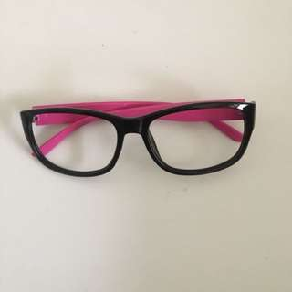 無鏡片眼鏡裝飾女