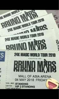 (2) VIP 2 Bruno Mars 24k Magic Concert (May 4, 2018)