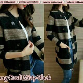 LONG CARDI MISTY BLACK
